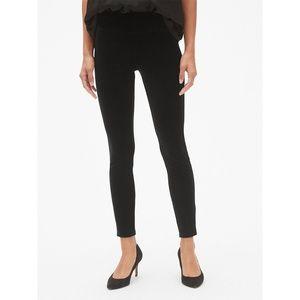 Gap Black High Rise Velvet Leggings